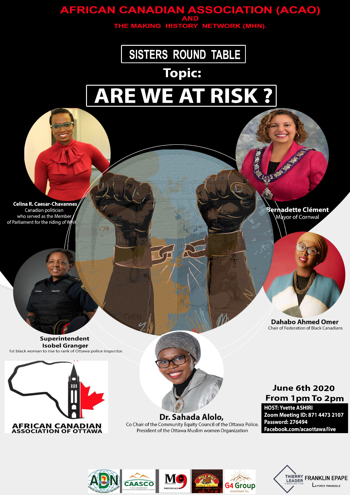 AFRICAN CANADIAN ASSOCIATION (ACAO) AND THE MAKING HISTORY NETWORK (MHN)